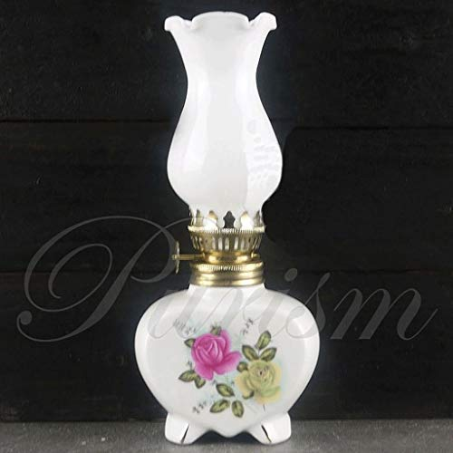 GCMJ ÖLlampen Petroleumlampe Keramik Craft Kleine chinesische Handgemachte Home Decoration Sturmlampe