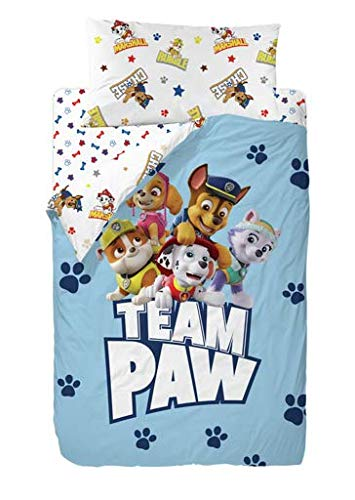 Nickelodeon Paw Patrol Group Saco Nórdico de 2 Piezas para Cama de 90, Cotton, Multicolor