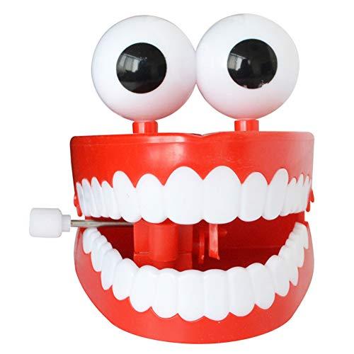 Naisicatar Wind-up Chattering Chomping Zähne mit Augen-Halloween-Spielzeug-Neuheit-Partei-Bevorzugungen Red Amusant Spielzeug