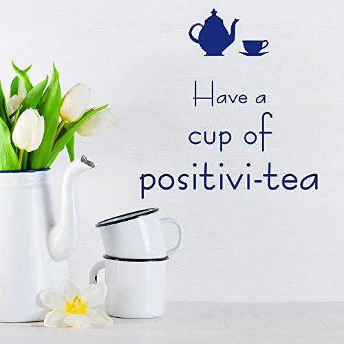 Tasse Tee Wandaufkleber Teekanne Brief Vinyl Fenster Aufkleber Küche Wohnzimmer Esszimmer Innen Wandbild 42 * 44cm