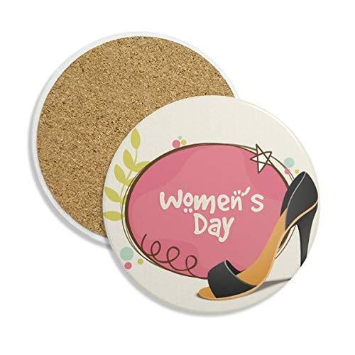 DIYthinker hoge hakken vrouwen dag patroon keramische onderzetter Cup mok houder absorberende steen voor dranken 2 stks gift