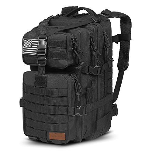 SunsionPro Military Backpack for Tactical Hunting Trekking or Outdoor Daily use 43L (Black Multicam)