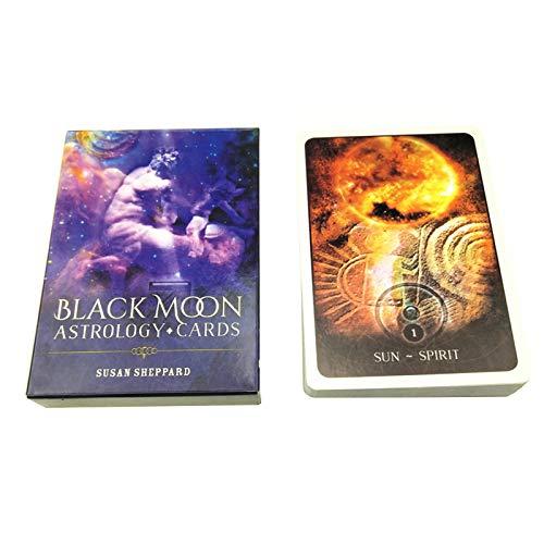 MSEKKO Carte à Jouer Black Moon Astrology Oracle Cards Full