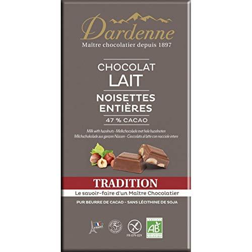 DARDENNE - TABLETTE CHOCOLAT AU LAIT TRADITION NOISETTES SS GLUTEN 180G