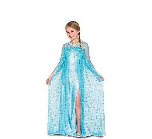 Costume Regina del Ghiaccio Elsa Frozen Taglia 10/12 Anni