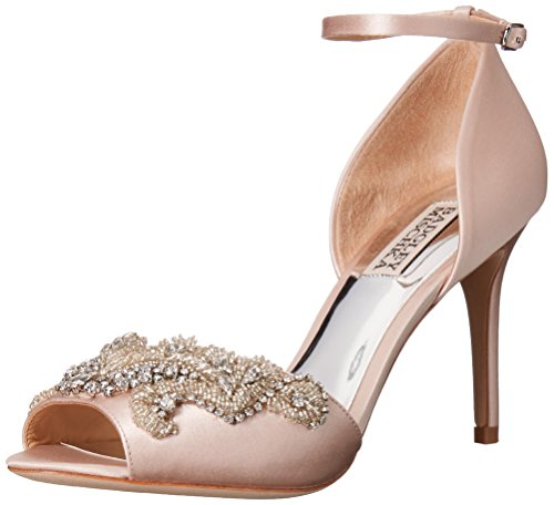 Badgley Mischka Women's Barker Dress Sandal, Light Pink, 8.5 M US