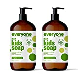 Everyone 3-in-1 Kids Soap: Body Wash, Bubble Bath, and Shampoo, Tropical Coconut Twist, 32 Ounce, 2 Count- Packaging May Vary