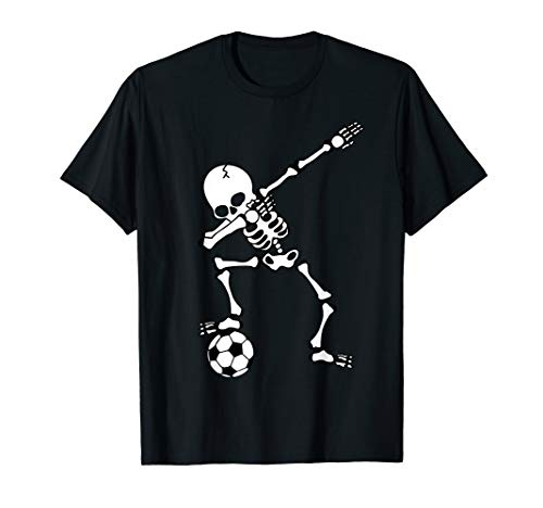 Dabbing Skelett Fußballtrikot, Halloween Dab Shirt, Kinder T-Shirt