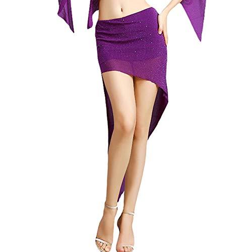 ROYAL SMEELA Gonna di Danza del Ventre Vestiti delle Donne Gonne da Ballo Asimmetrico Triangolo smussato Gonna Corta Sexy Sottile Costume da Ballo Abiti Abbigliamento Donna