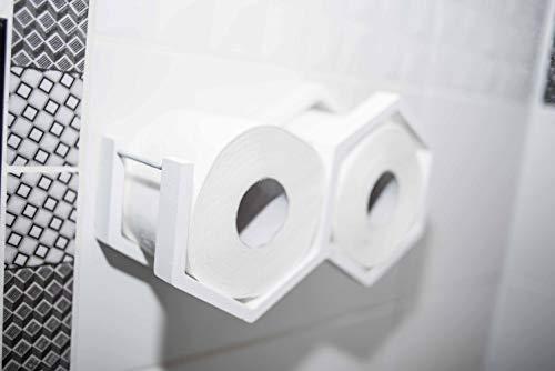 Soporte de madera para papel higiénico, estante de madera para papel