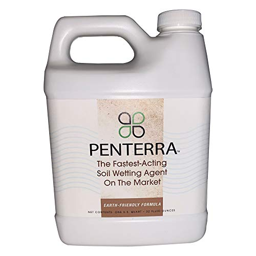 Penterra Soil Penetrant and Wetting Agent – Promotes Water Movement and Root Absorption to Deter Erosion and Improve Nutrient Uptake for Hardier Landscaping and Water Conservation