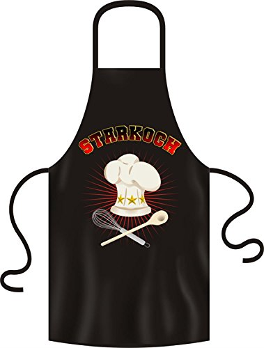 No-Compromise ® Grillschürze Schürze Latzschürze Bistroschürze Küchenschürze Kochschürze (GRIECHISCH GRILLEN) (Star Koch)