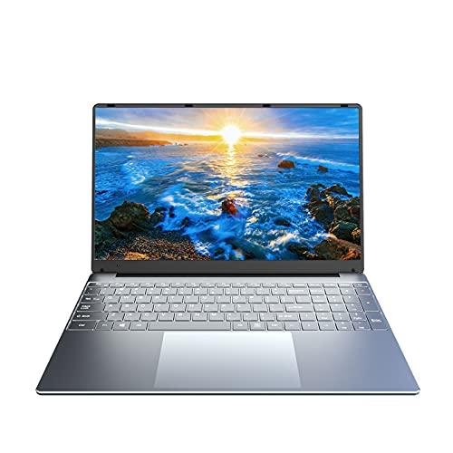 KUU A10 Notebook da 15,6 pollici, Intel Celeron J4125 Notebook quad-core fino a 2,7 GHz CPU Window 10 Pro 8 GB di RAM SSD da 256 GB Schermo Full HD IPS Tastiera ultrasottile Computer argento