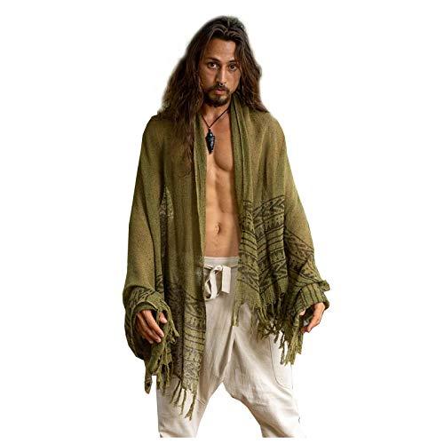 BREEZE groene handgeweven katoenen sjaal sarong dreads haarband natuurlijk geverfd wrap blok gedrukt ademend Festival Gypsy Tribal Savage AJJAYA