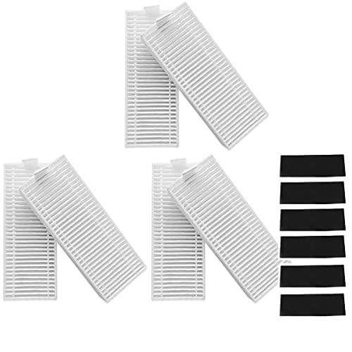 Fantisi 6 filtros HEPA para aspiradora okp Life pa2100 K2, K7, K8 Robot (6 filtros de esponja negra)