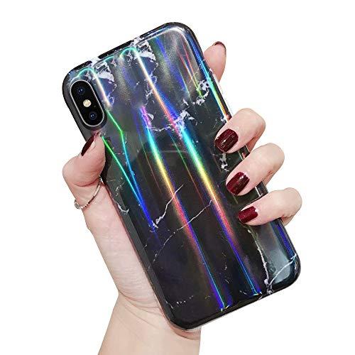 Oihxse Carcasa compatible con [iPhone 11-6.1] Carcasa, Fashion Gradient Aurora Laser Cover iPhone 11 transparente, suave silicona gel TPU Fundas protectoras Case Cover con motivo bonito