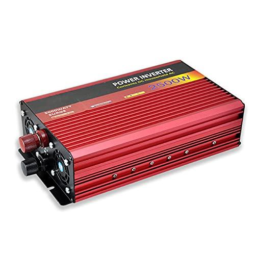 JMYSD Inversor De Corriente De 2500 W, Convertidor De Voltaje De Onda Sinusoidal Pura, Convertidor Inversor con Enchufes Y Conexión USB, CC 48 V A CA 220 V
