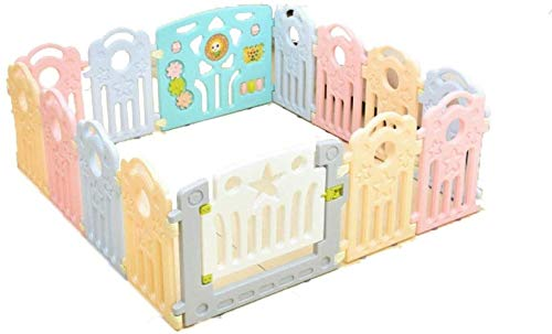 Check Out This Convenience Playpen Plastic Large Baby with Door, Room Divider Child Kids Barrier Eas...
