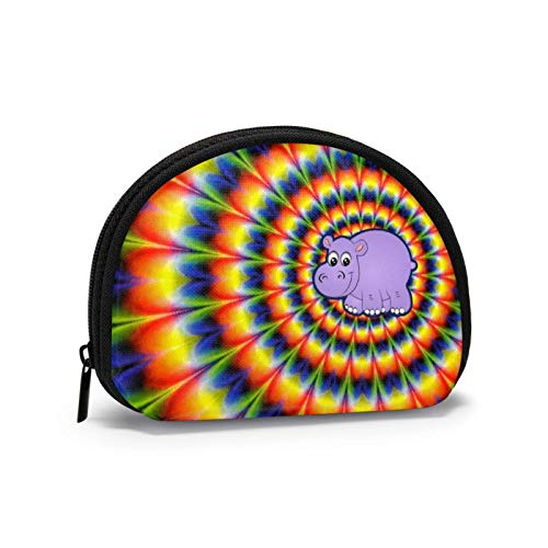 Oxford Cloth Hippy Tie Dyed Radial Pattern Coin Purse Small Zipper Wallet Bag Change Pouch Mini Cosmetic Makeup Bags Organizer Multipurpose Pouches
