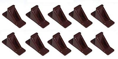 JSP Manufacturing Brown Plastic Mini Roof Snow Ice Guard - Multi-Quantity Pack | Prevents Sliding Snow Stops Buildup (10)