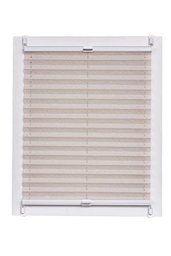Sunl INES Store plissé fabriqué en Allemagne, lumière du Jour, echtc Rush Wohn-Guide Klemmfix Rail, Blanc, 85 x 150, Plastique, Naturel, 85 x 2.3 x 150 cm
