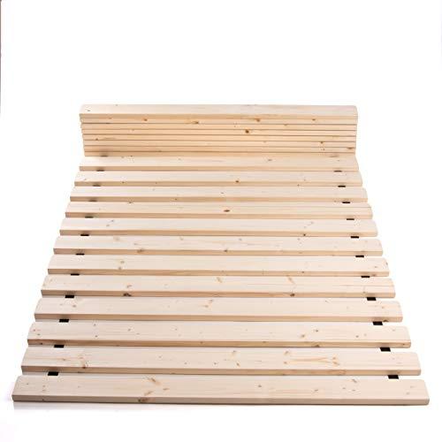 TUGA - Holztech Rolllattenrost Rollrost Lattenrost 160x200cm bis 300KG Flächenlast Qualitätsarbeit aus Deutschland unbehandelt frei von Chemie Naturprodukt NEU inkl Befestigungskit