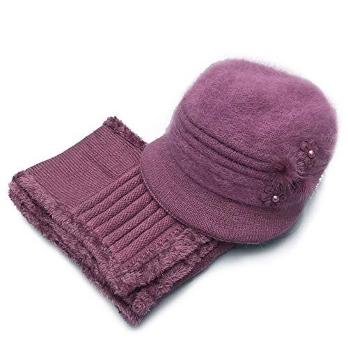 Gorro de Punto para Mujer - Sombreros Cloche Sombrero Invierno otoño/Invierno-Gorra cálida de Invierno-Sombrero de Bombín