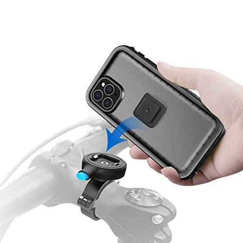 Chnzyr Soporte Movil Bici con Estuche Impermeable, Universal Soporte Movil Bicicleta Moto Montaje de Metal con Agarre Robusto, Rotación de 360 ° Ajustable Desmontable,For iPhone 7P/8P