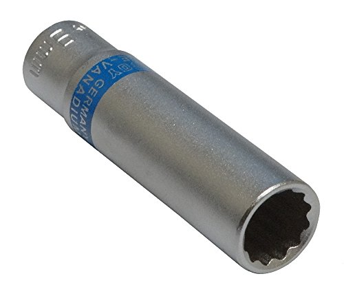 Aerzetix: Steckschlüssel Einsatz Nuss 12 kant 1/4 9mm tief lange professionelle hochwertige erweitert Stahl CrV
