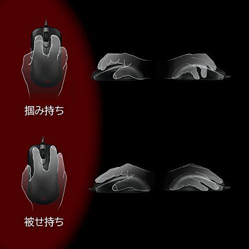 BenQゲーミングマウスZOWIES1(ブラック/光学式/USB有線/プラグ&プレイ/4段階DPI/5ボタン/右利き用/87g/Mサイズ)