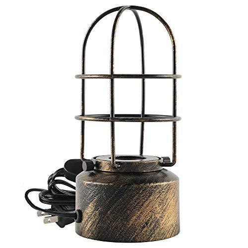 Zoarlan テーブルライト テーブルランプ レトロ 口金E26 鉄ベース デスクライト 間接照明 電気スタンド ベッドサイドランプ パンクスタイル おしゃれ 装飾ランプ 寝室