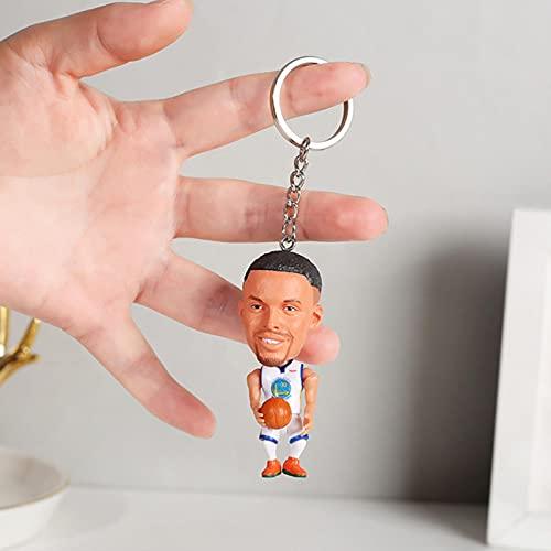 TIANGUO Llavero de muñeca de Baloncesto Mini Figuras de Juguete Llavero de Resina Coleccionable Colgante de Mochila - Gran Regalo para los fanáticos de Las Estrellas de Baloncesto