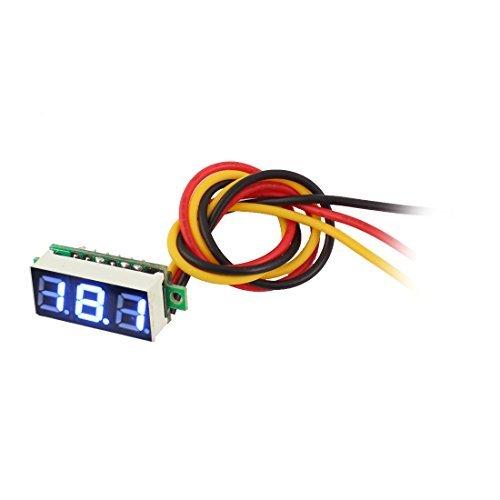0-100V 7 Segmento azul Digit Display LED Digital Panel Voltímetro Meter