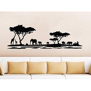 Sticker Elephant Silhouette Wall Art Decal