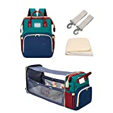 YYL 3 in 1 Diaper Bag Backpack with Changing Station, Diaper Bags for Baby Girls Boys, Diaper Bag with Bassinet, Newborn Essentials Must Haves, Multi-Function Travel Mommy Bag
