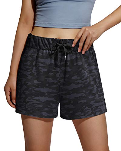 Promover Pantalones Cortos Deportivos para Mujer con Cordón Cómodos Secado Rápidocon con Bolsillos Aire Libre para Gimnasio Jogging Fitness