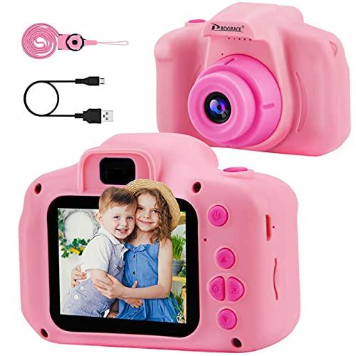 PROGRACE Kids Camera Children Digital Cameras for Girls Birthday Toy Gifts...