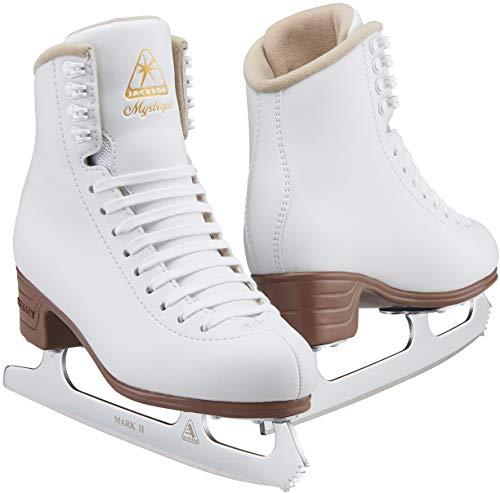Jackson Ultima JS1490 Mystique Damen Eiskunstlaufschuhe, Farbe: Weiß, Breite: M, Größe: Erwachsene 6,5