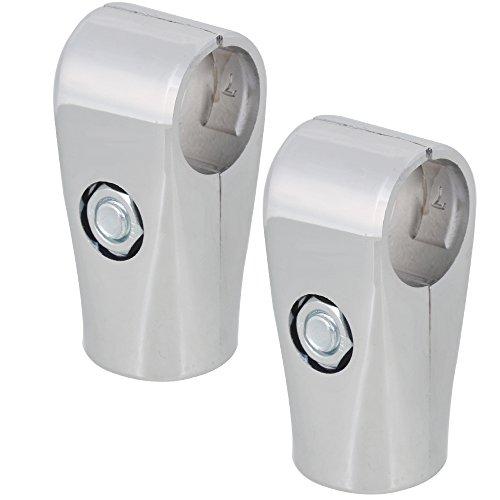 Mxfan - Juego de 2 abrazaderas de 25 mm para tubos compuestos...