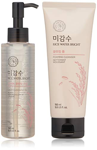 Total 2Pcs The Face Shop Rice Water Bright Cleansing Oil +
