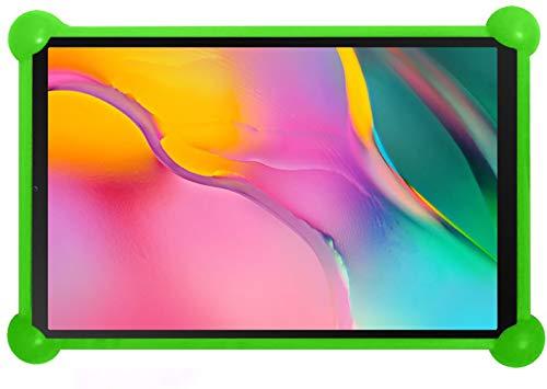 antber Funda Tablet 10.1 Universal Silicona Valida para Todas Las Tablets de 10.1' Compatible con Tablet Samsung Tab a 10.1 2019 Huawei mediapad t5 (Verde)
