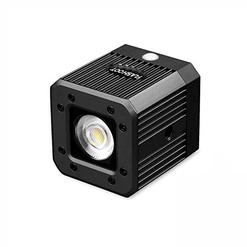 8W 200LUX / 1M Waterdichte Aluminium Mini Pocket Kubus LED Video Lamp Stroboscoop Functie met 1/4