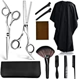 Kynup Hair Cutting Scissors for Women,11 Pieces Hair Cutting Shears, Professional Texturizing Scissors Set for Hairdressing, Thinning, Salon, Home Use with Razor Grooming Comb Haircut Cape Home Salon