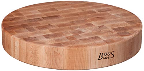 John Boos Block CCB183-R Classic Collection Maple Wood End Grain Round Chopping Block, 18 Inches Round x 3 Inches