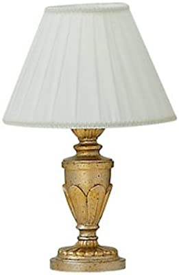 Ideal Lux Dora TL1 Small E14 Lampe de Table – Lampe de Table (Or, métal, résine, Chambre, Chambre d'enfant, Salon, IP20, E14, 1 Ampoule)