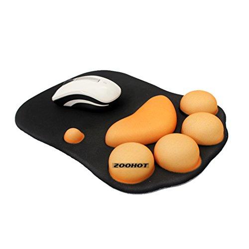 Zoohot Spiel-Mauspad mit Gel-Handgelenk-Pad,Süße Katzenpfote Softsilicone Handgelenkstützen Handgelenk Kissen