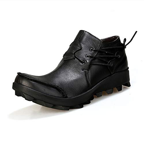 TIDUU herenschoenen denim schoenen punk dikke kruk hoofdlaag leer persoonlijkheid herenschoenen grote schoenen