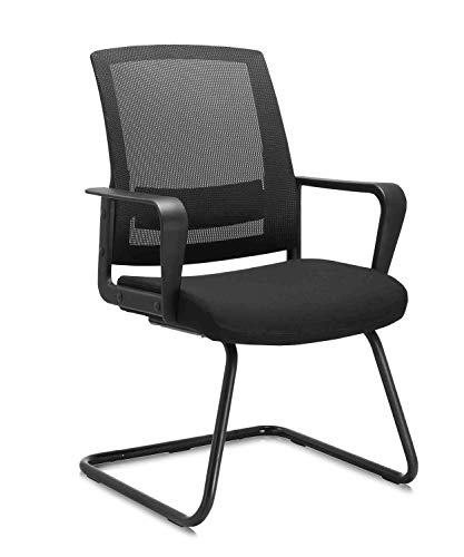 CLATINA Office Guest Chair with Lumbar Support and Mid Back Mesh Space Air Grid Series for Reception Conference Room