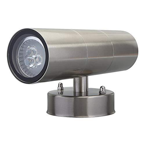 MERIGLARE Up Down Outdoor Garden Wall Lights Lámparas LED Lámpara de Pared Impermeable - Blanco cálido, Individual