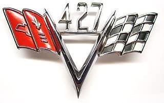 The Parts Place Universal Chevrolet 427 Cross Flag Emblem